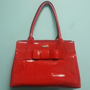 Kate spade women purse bag red leather